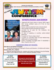 Sean Barron, Barbara Protopapa and Dr. Kimberly Mills Provide Keynote Addresses at VIUCEDD Autism Research Conference