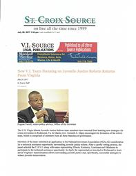 Virgin Islands Juvenile Justice Reform Team