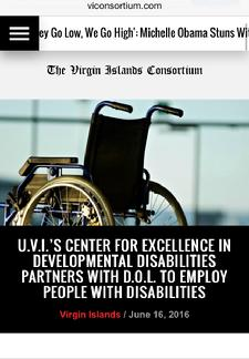 Associate Director of VIUCEDD, Dr. Kimberly Mills partners with VIDOL and Vocational Rehabilitation To Employ People With Disabilities