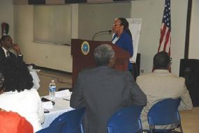 Dr. Mills Sharing Research on The School To Prison Pipeline for the USVI Department of Homeland Security