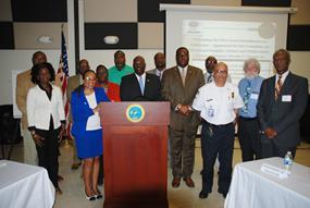 Dr. Kimberly Mills of VIUCEDD delivers Keynote Address at School to Prison Pipeline Workshop Sponsored by Senator Norvelle E. Francis, Jr. of The USVI